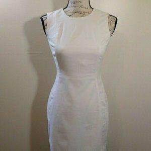 Calvin Klein White Bodycon Evening Dress